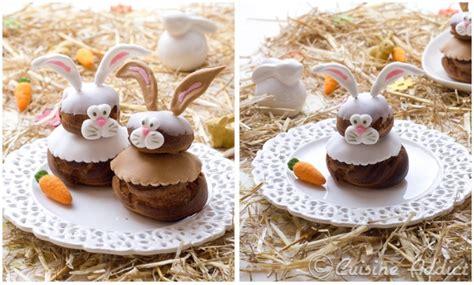 cuisine bresilienne tuto déco petits lapins en pâte à sucre pour religieuses
