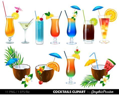 Drink Clip Cocktails Cliparts