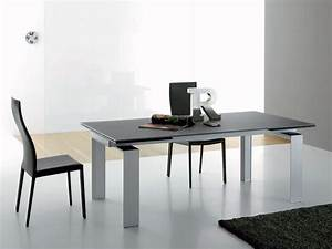 Esszimmer Glastisch Ausziehbar : tavolo da pranzo allungabile in alluminio laccato idfdesign ~ Frokenaadalensverden.com Haus und Dekorationen