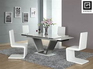 contemporary white dining room furniture dining chairs With modern white dining room chairs