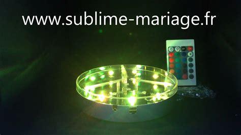 projecteur led sous vase sans fil led lumineuse pour d 233 coration www sublime mariage fr