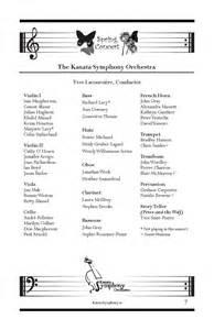 fan wedding program template evikreative kso concert program