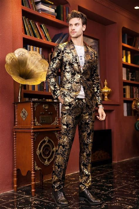 fire kirin men suits  wedding  luxury brand black