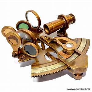 Solid Brass Sextant Antique Sextant Handmade Old Sextant