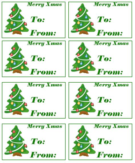 free printable christmas tags templates search results