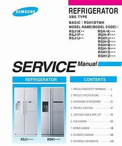 Samsung Rsh1dbrs Refrigerator Service  U0026 Repair Manual