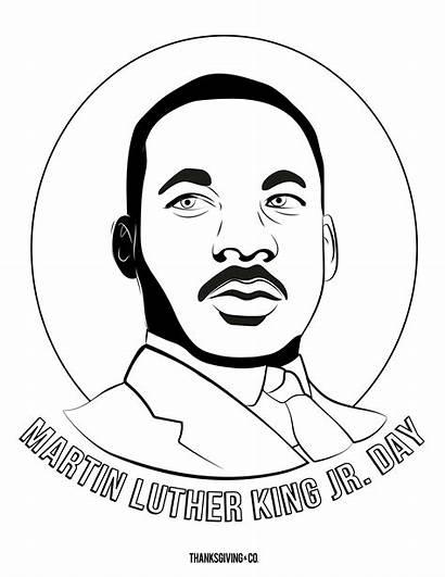 Luther Coloring Martin Mlk Jr King Dr