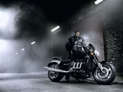 Motorcycle Bike Harley-davidson Speed Race Road Fog Old