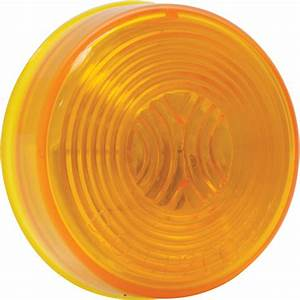 Blazer Incandescent Round Clearance And Side Marker Trailer Light  U2014 2in  Dia   Amber  Model