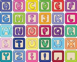 colorful lower case alphabet blocks stock vector colourbox With alphabet letters blocks