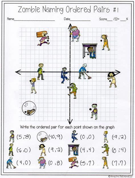 naming ordered pairs worksheet 6th grade math
