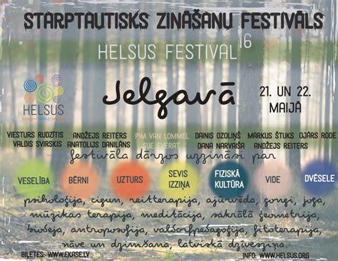 Tuvojas lielākais zināšanu festivāls Baltijā - HELSUS 2016!