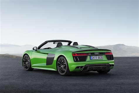 new audi r8 v10 spyder debuts in plus guise with 601hp