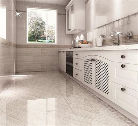 White Kitchen Floor Tiles  Morespoons #49a532a18d65