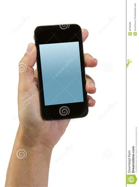 de l homme tenant le smartphone ou le t 233 l 233 phone portable moderne avec l 233 cran d affichage
