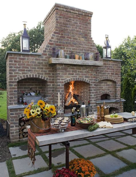 loves  gorgeous outdoor fireplace