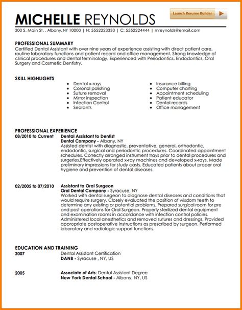 5 experienced dental hygienist resume financial