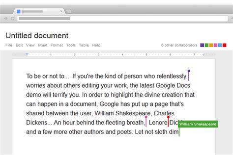 google docs collaboration demo chromebook verge dickens nietzsche shakespeare collaborate notebookcheck