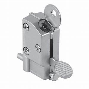 Porte Coulissante Avec Serrure : prime line verrou pied en aluminium pour porte ~ Dailycaller-alerts.com Idées de Décoration