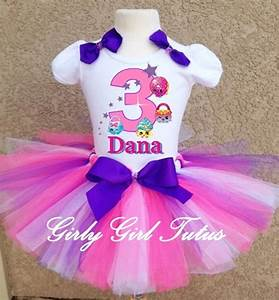 Girls Shopkins Pink Birthday Tutu Outfit Party Dress Set - Outfits u0026 Sets