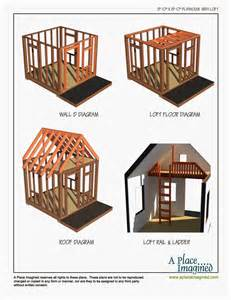 aplaceimagined 8 x8 playhouse with loft