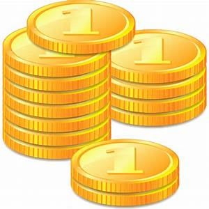 Collection of gold coins icons free download