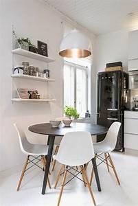 Table Cuisine Grise : la plus originale table de cuisine ronde en 56 photos ~ Teatrodelosmanantiales.com Idées de Décoration
