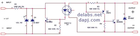 Solid State Relay Delabs Schematics Electronic Circuits