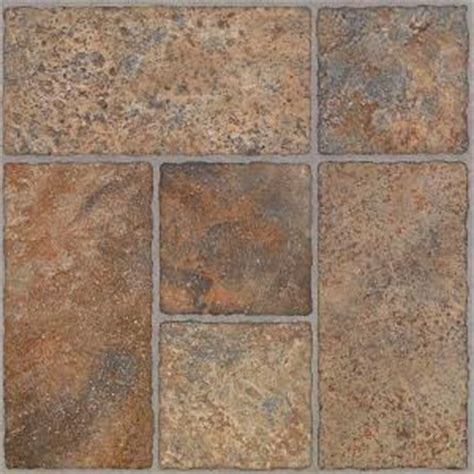 TrafficMASTER Bodden Bay 12 in. x 12 in. Terra Cotta Peel