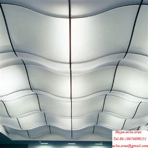 decorative curved suspended ceiling tiles for bars