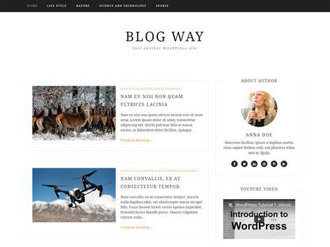 Blog Way  Elegant, Minimal And Best Blog Wordpress Theme