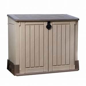 keter garten aufbewahrungsbox mulltonnenbox gartenbox With französischer balkon mit keter garten