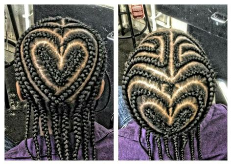 Braids with Heart Design