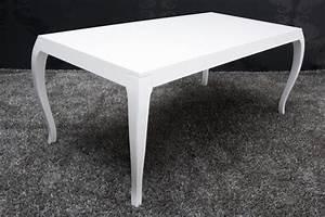 Hochglanz Tisch Weiß : barock esstisch hochglanz wei 200cm esszimmer tisch m bel ebay ~ Frokenaadalensverden.com Haus und Dekorationen