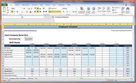 employee scheduling spreadsheet excel excel