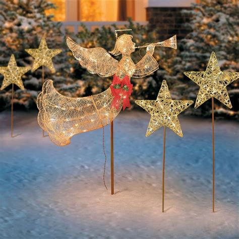 outdoor lighted angel shop collectibles  daily