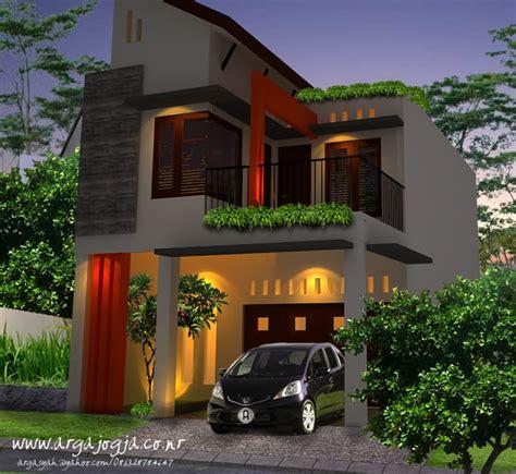 desain eksterior rumah mungil  lantai lebar  meter