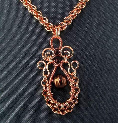Oriental Copper Swirls & Ruffles Pendant — Jewelry Making