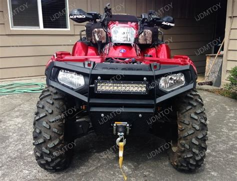 72w high power led light bar with mount bracket for atv utv