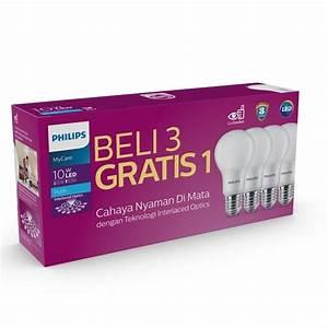 Jual Lampu Led Philips 10 Watt Bohlam 10w Putih 10 5 W 10 5 Watt 10 5w 10 W Bulb Packing 4 Pcs
