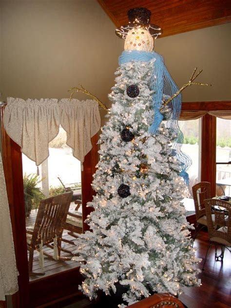 christmas tree decorated with snowmen snowman tree trendy tree