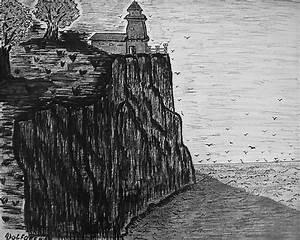 The Cliff Drawing by Adolfo hector Penas alvarado