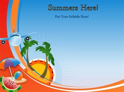 animated summer template  powerpoint