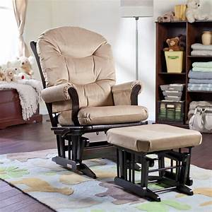 Dutailier ULTRAMOTION Sleigh Platinum Glider And Ottoman