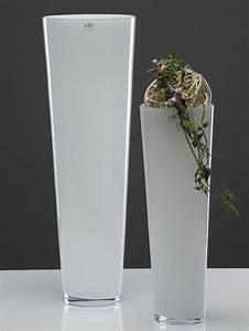 Bodenvase Weiss 80 Cm : glasvase xxl glas vase blumenvase bodenvase konisch milchglas wei 70 cm ebay ~ Bigdaddyawards.com Haus und Dekorationen