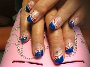 Red white blue nails | nail art, designs, &colors ...