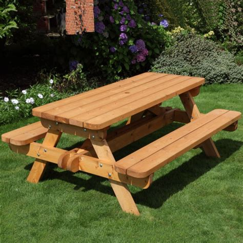Wooden Tables For Sale by Wood Picnic Bench Treenovation