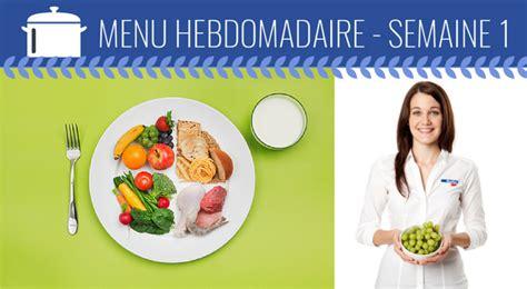 menu semaine cuisine az menu de la semaine 1 défi 31 jours cuisinez santé