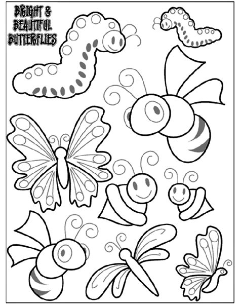 bright  beautiful butterflies  coloring page crayolacom