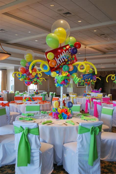 candy themed bat mitzvah event decor adult centerpieces
